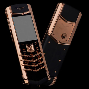 Vertu Signature S Design Gold Black Leather