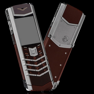 Vertu Signature S Design Stainless Steel Brown Leather New