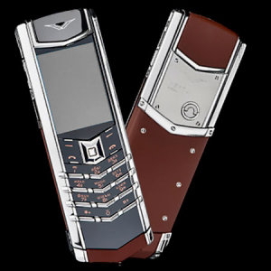 Vertu Signature S Design Stainless Steel Brown Leather
