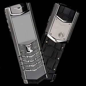 Vertu Signature S Design Stainless Steel Black Crocodile Leather