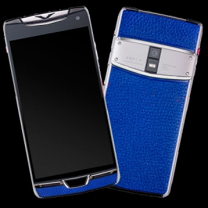 Vertu Constellation X Stainles Blue Leather Exclusive