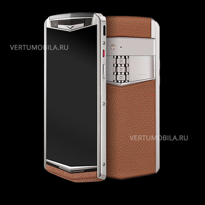 Vertu Aster P Stainles Steel Brown Leather Exclusive