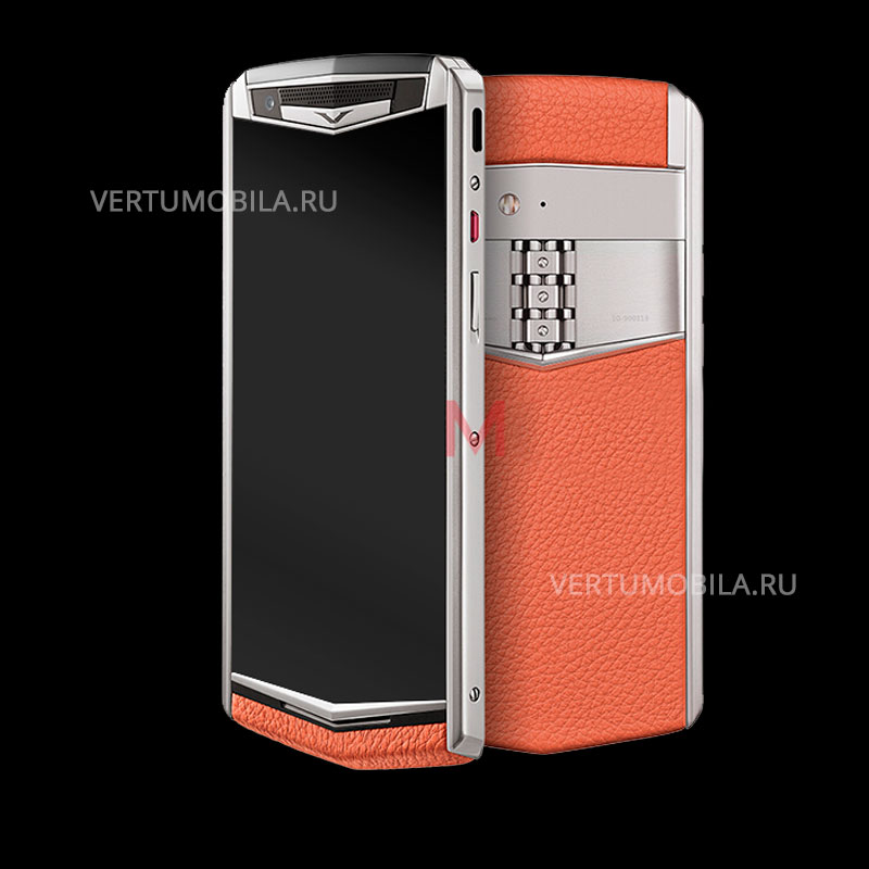 Vertu Aster P Stainles Steel Orange Leather Exclusive