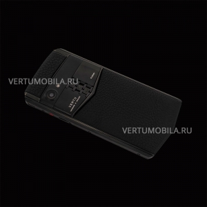 Vertu Aster P Stainles Pure Black Leather Exclusive