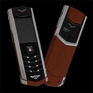 Vertu Signature S Design Bentley Brown Leather