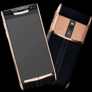 Vertu Signature Touch  Gold Black Leather NEW