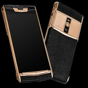 Vertu Signature Touch Clous De Paris Gold Iguana new