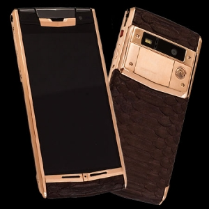 Vertu Signature Touch Gold Brown Python