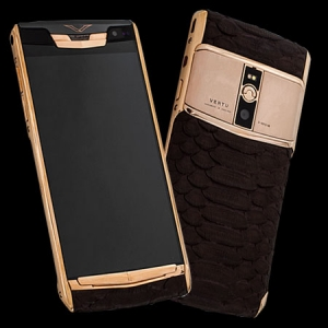 Vertu Signature Touch Gold Brown Python NEW