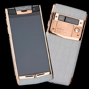 Vertu Signature Touch Gold Crocodile White