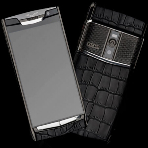 Vertu Signature Touch  Clous De Paris Crocodile Black NEW
