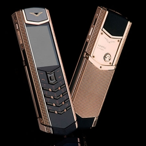 Vertu Signature S Design Clous De Paris Stainless Steel Gold