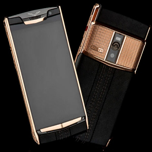 Vertu Signature Touch  Clous De Paris Gold Black NEW