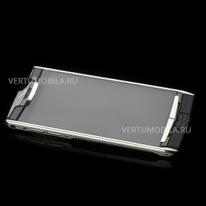 Vertu Signature Touch Clous De Paris Stainless Steel NEW