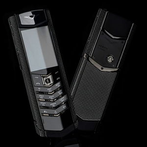 Vertu Signature S Design Clous De Paris Stainless Steel Black