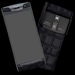 Vertu Signature Touch Pure Crocodile Black NEW