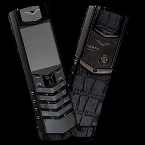 Vertu Signature S Design Pure Black PVD Crocodile Leather