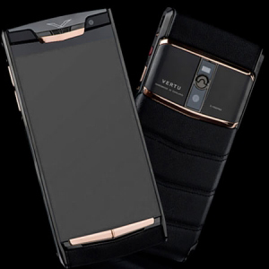 Vertu Signature Touch  Pure Black Gold NEW