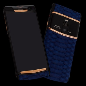 Vertu Signature Touch  Pure Black Gold Blue Python NEW