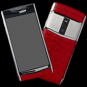 Vertu Signature Touch  Jet Red Alligator Calf  NEW