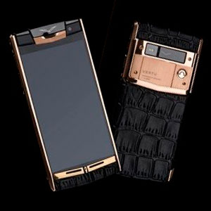 Vertu Signature Touch Gold Crocodile Black
