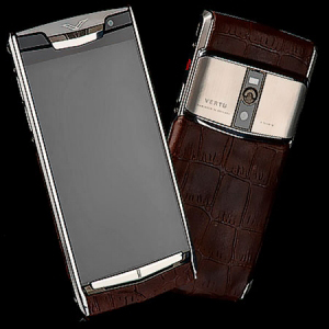 Vertu Signature Touch Jet Alligator Brown NEW
