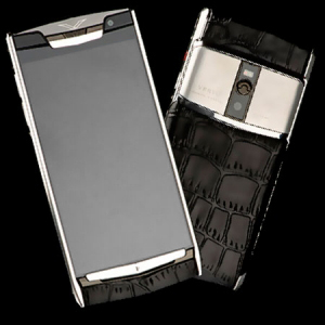 Vertu Signature Touch Jet Alligator Calf  NEW