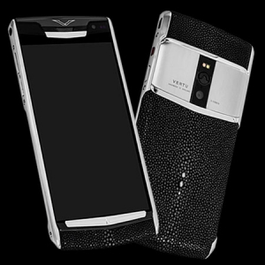 Vertu Signature Touch Jet Black Stingray NEW