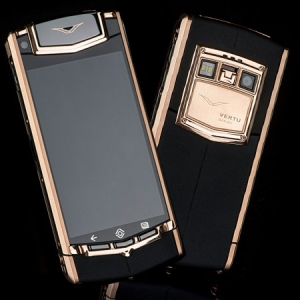 VERTU TI ANDROID GOLD BLACK LEATHER