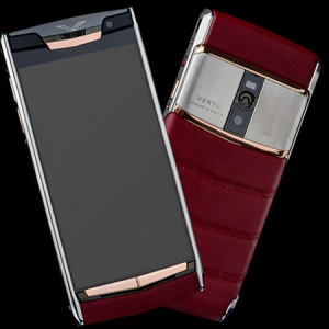Vertu Signature Touch  Jet Gold Red Calf  NEW